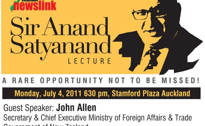 Indian Newslink Sir Anand Satyanand Lecture